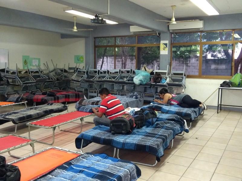 Poca asistencia en refugios temporales