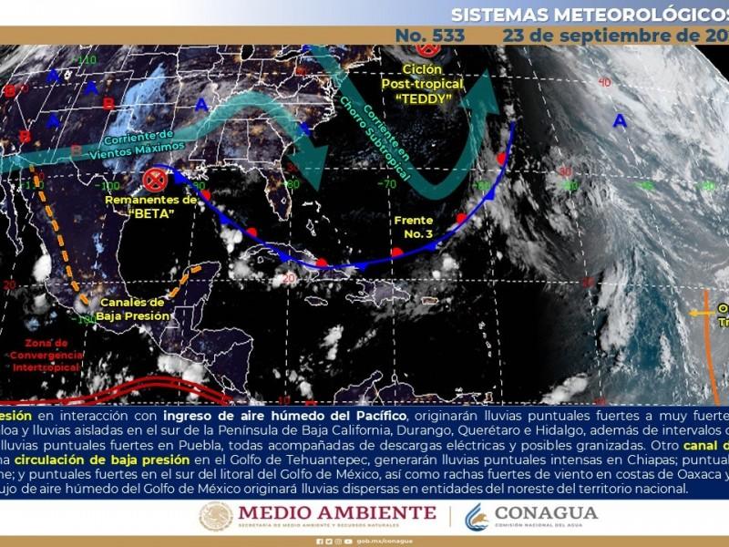 Poca probabilidad de lluvias y altas temperaturas para este miércoles