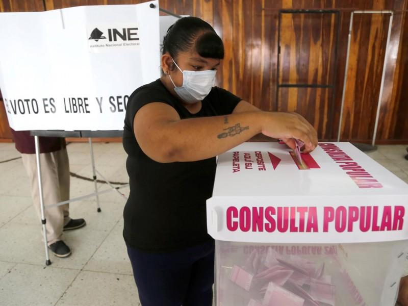 Pocos pero convencidos vota en consulta popular
