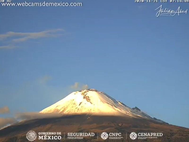Podría caer ceniza en la capital poblana, Popocatépetl continua activo