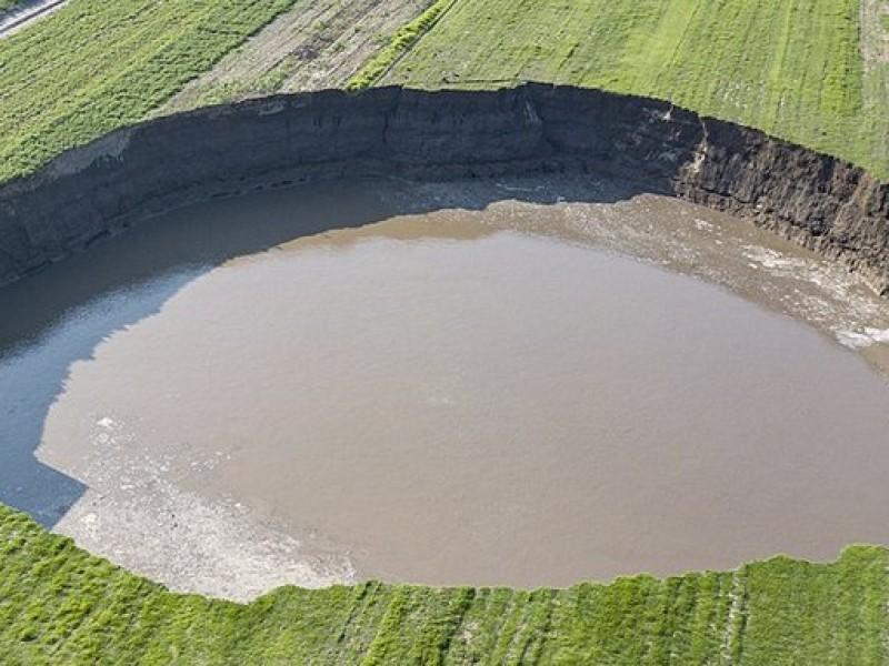 Podrían extender perímetro de seguridad del socavón a 2,5 hectáreas