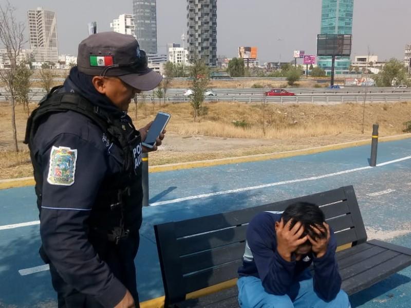 Policía Auxiliar frustró intento de suicidio en ciclovía