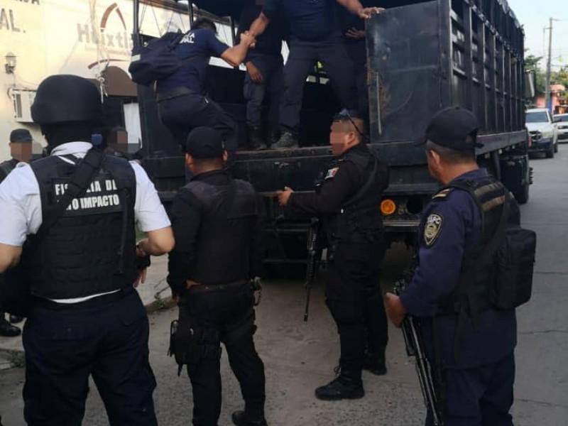 Policías de Huixtla ligados al crimen organizado