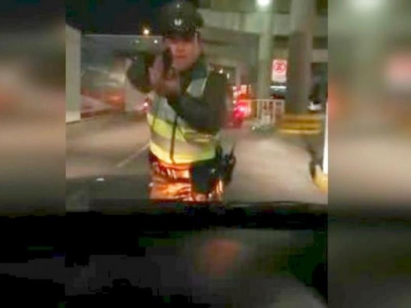 Policía dispara a chofer que intentó evadir control