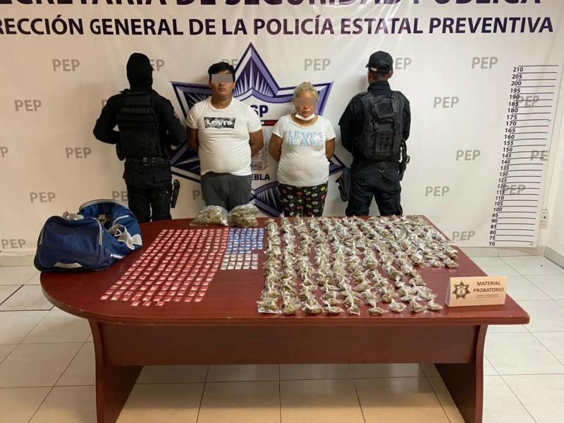 """Policía Estatal detiene a """"La Doña"""" en Analco"""