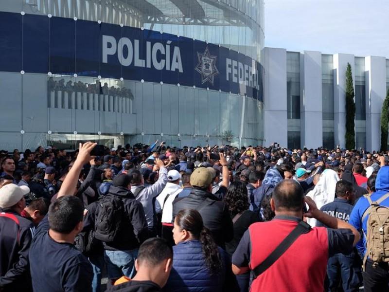 Policía Federal se manifiesta contra la Guardia Nacional