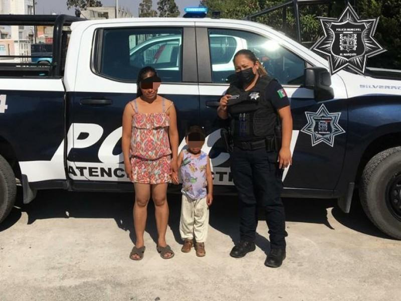 Policías de El Marqués llevan a menor a casa