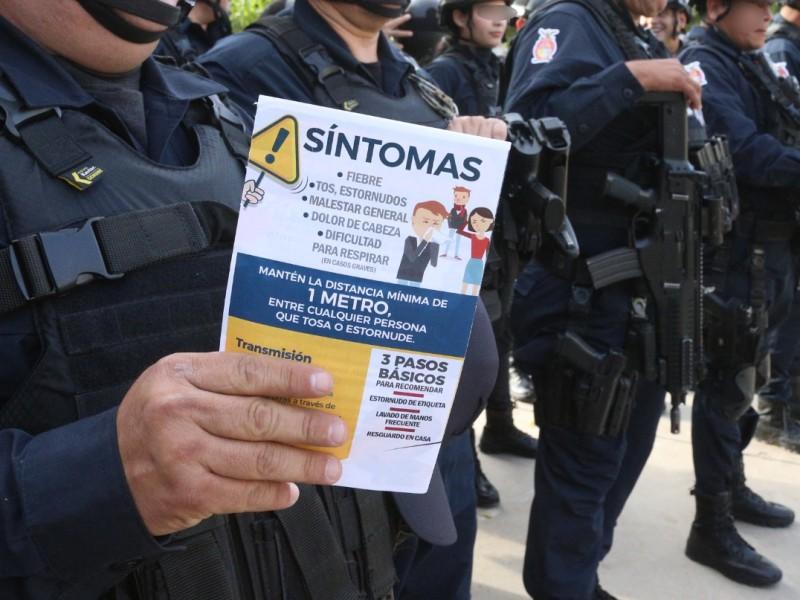 Policías Estatales reciben manual para prevenir el Covid 19
