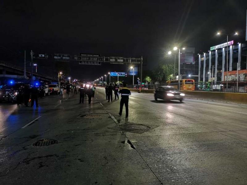 Policías federales retiran bloqueo del AICM