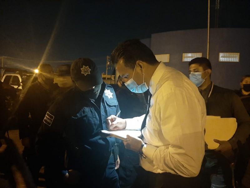 Policías se manifestaron en la presidencia municipal de Silao