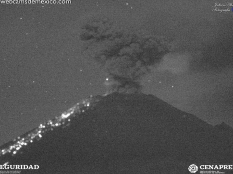 Popocatépetl registra 159 exhalaciones