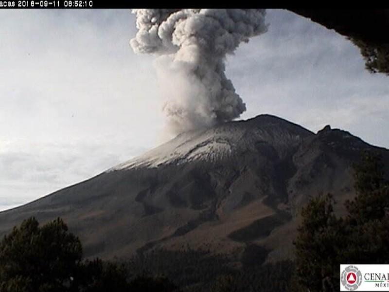 Popocatépetl registra explosión esta mañana