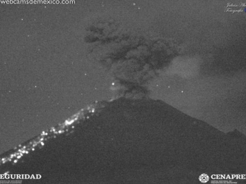 Popocatépetl registra nueva explosión