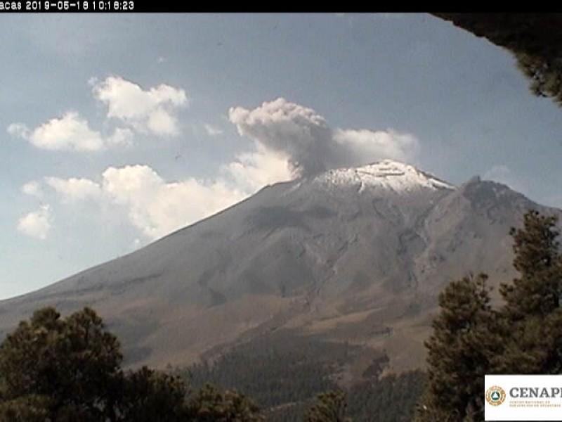 Popocatépetl se mantiene en Amarrillo Fase Dos: PC