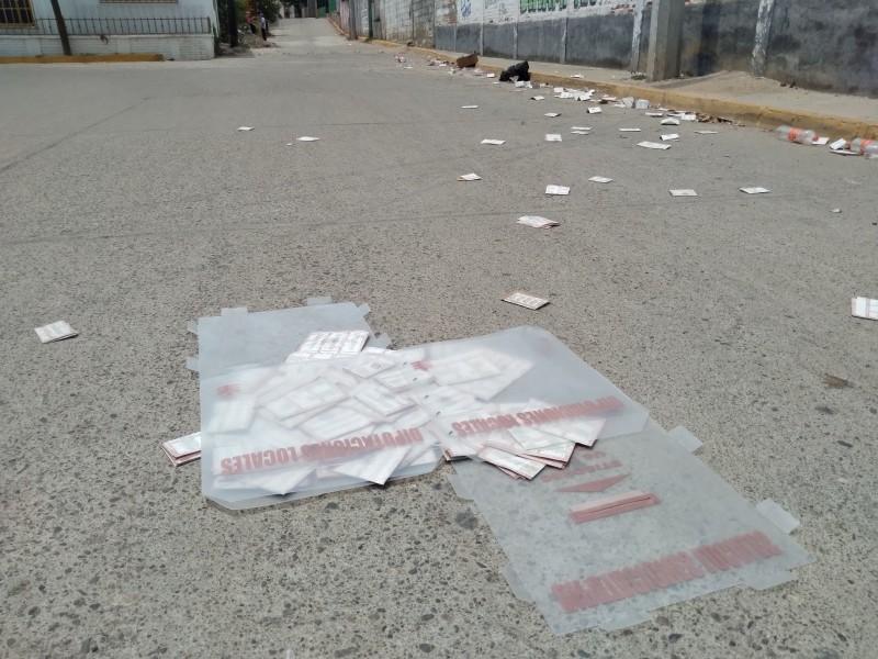 Por actos violentos suspenden jornada electoral en Santa María Mixtequilla