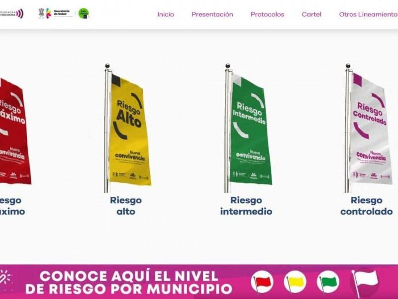 Por alto riesgo de contagios, Zamora continúa con bandera amarilla
