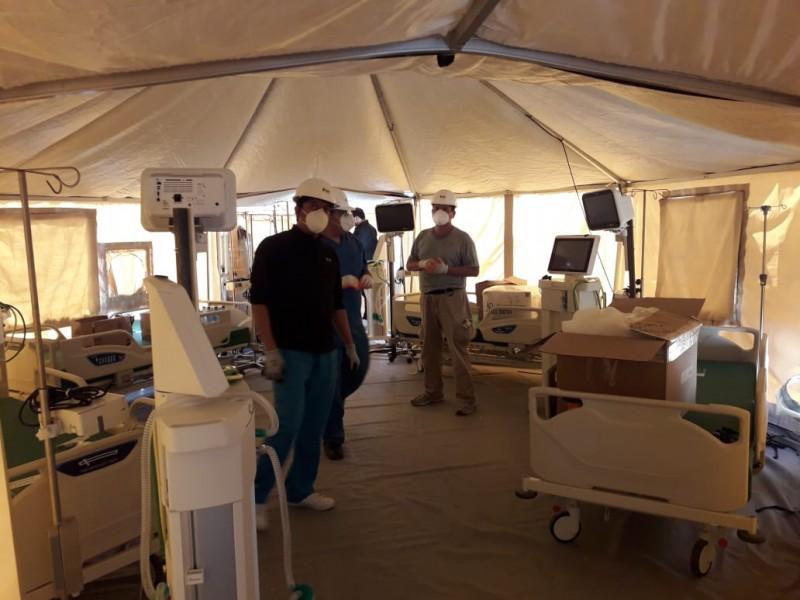 Por concluir instalación de Hospital Móvil para Torreón