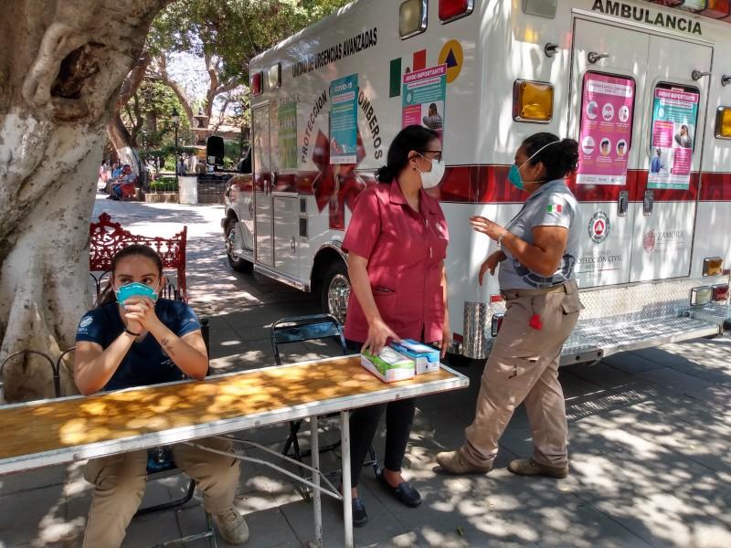 Por COVID-19, instalan 6 filtros de salud en Zamora