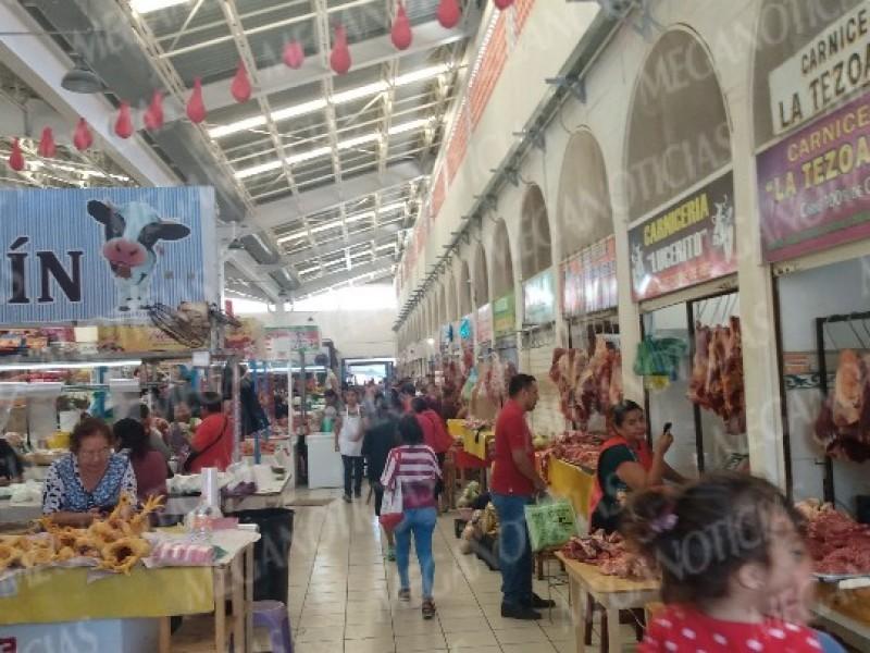 Por Covid-19 locatarios acuerdan sanitizar mercado Ignacio Zaragoza