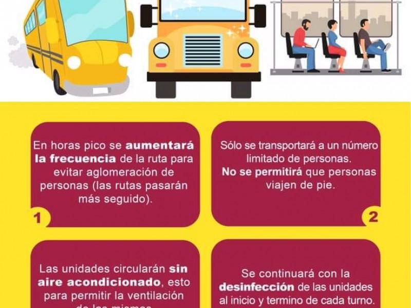 Por Covid-19, toman nuevas medidas preventivas en el transporte