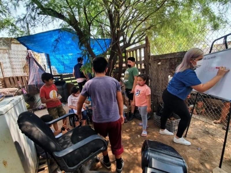 Ofrecen clases gratis a niños de colonias vulnerables