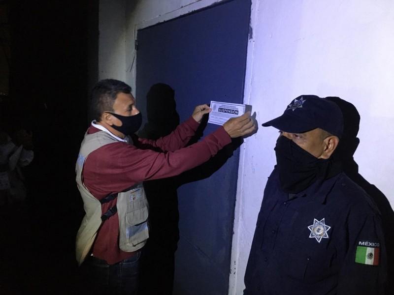 Por desacatar horario suspende SSM seis establecimientos nocturnos en Morelia