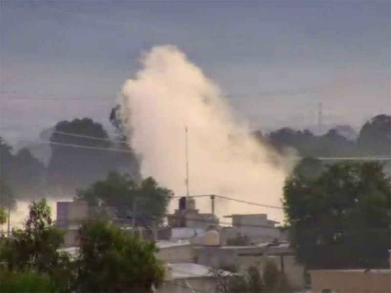 Por fuga de gas, desalojan viviendas en Acolman