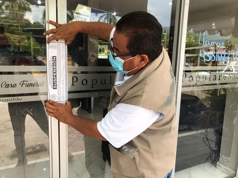 Por incumplir medidas sanitarias, suspenden 6 establecimientos en Apatzingán