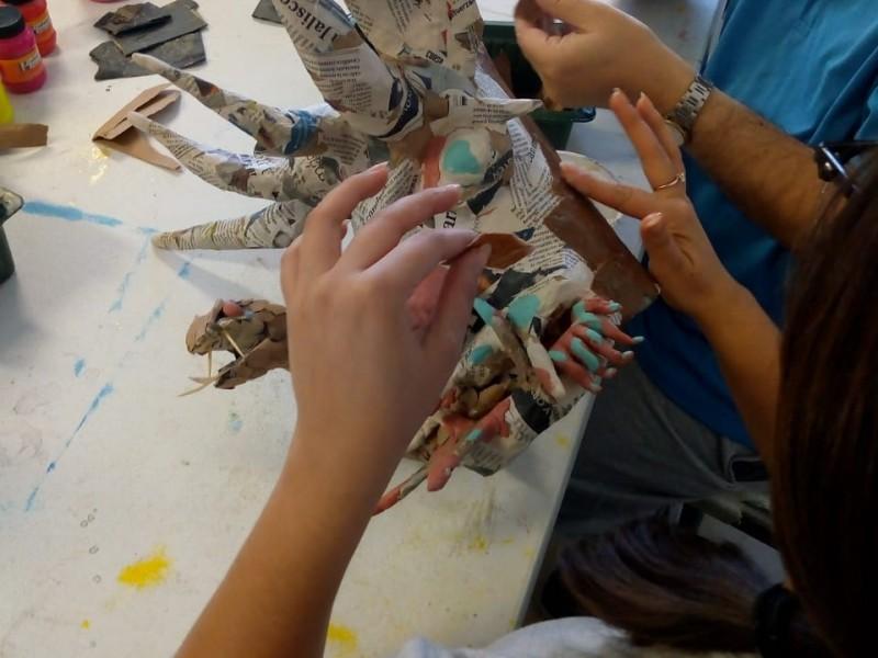 Por iniciar actividades de taller de iniciación artística del CRAM