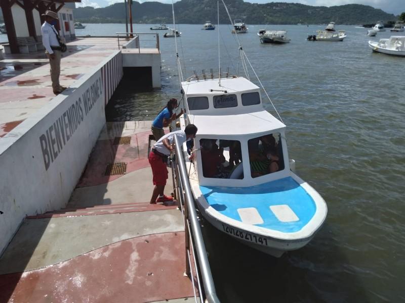 Por mejoría, se abre puerto a la navegación en Zihuatanejo