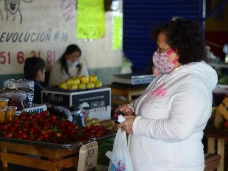 Por nueva movilidad, refuerzan medidas sanitarias en mercado de Jacona