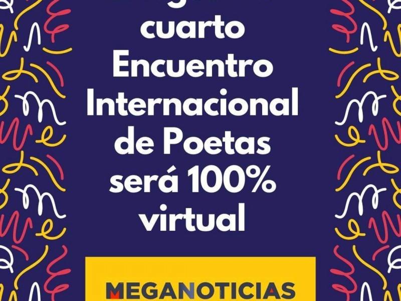 Por pandemia, Encuentro Internacional de Poetas será 100% digital