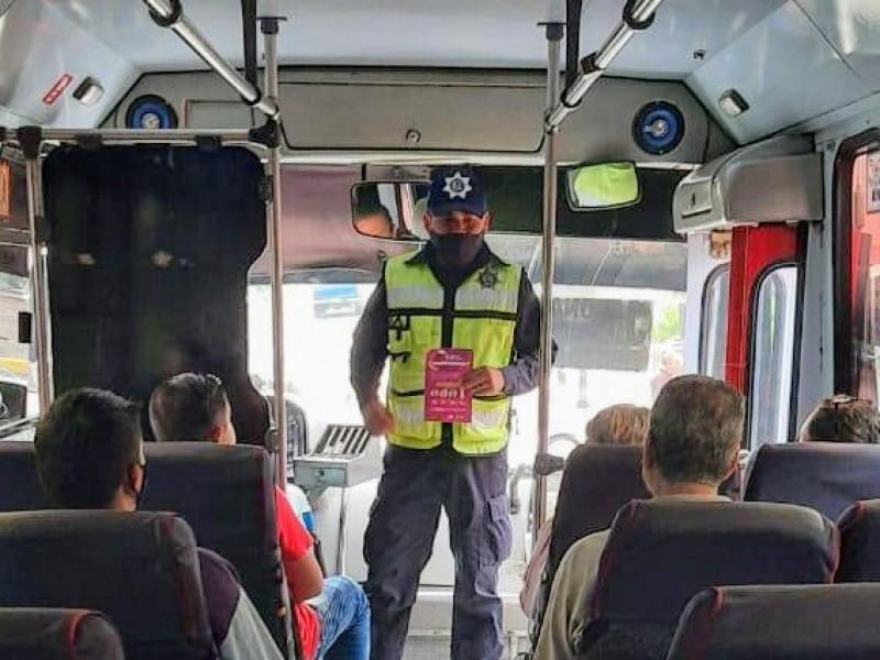 Por pandemia, siguen avante operativos de revisión a transporte público