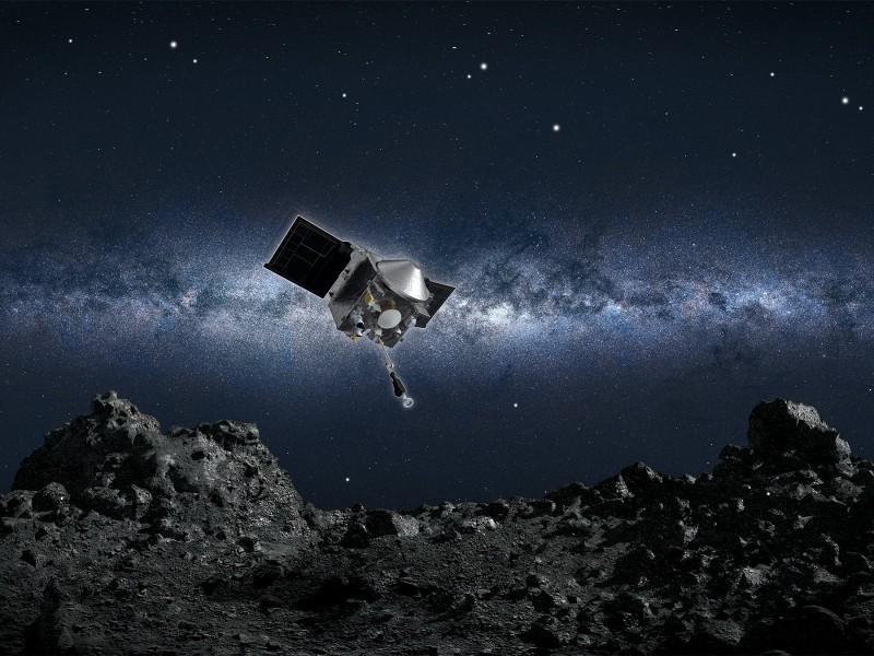 Por primera ocasión Sonda espacial OSIRIS-REx toca superficie de asteroide