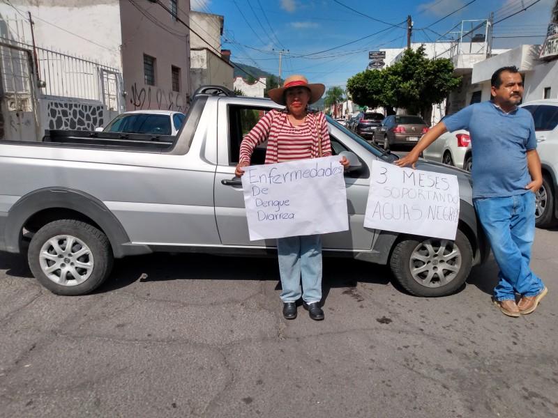 SIAPA atendió manifestación en colonia San Antonio