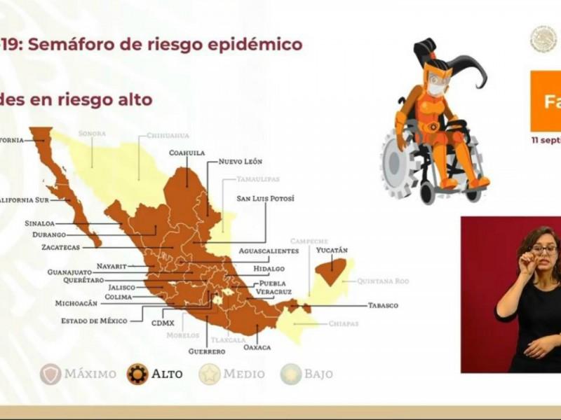 Por repunte de casos Oaxaca regresa al semáforo naranja