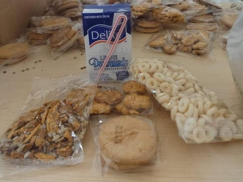 Por restricciones sanitarias, modifican entrega de desayunos escolares fríos