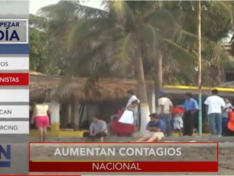 Por retorno de vacacionistas aumentan contagios de Covid-19 en Chiapas