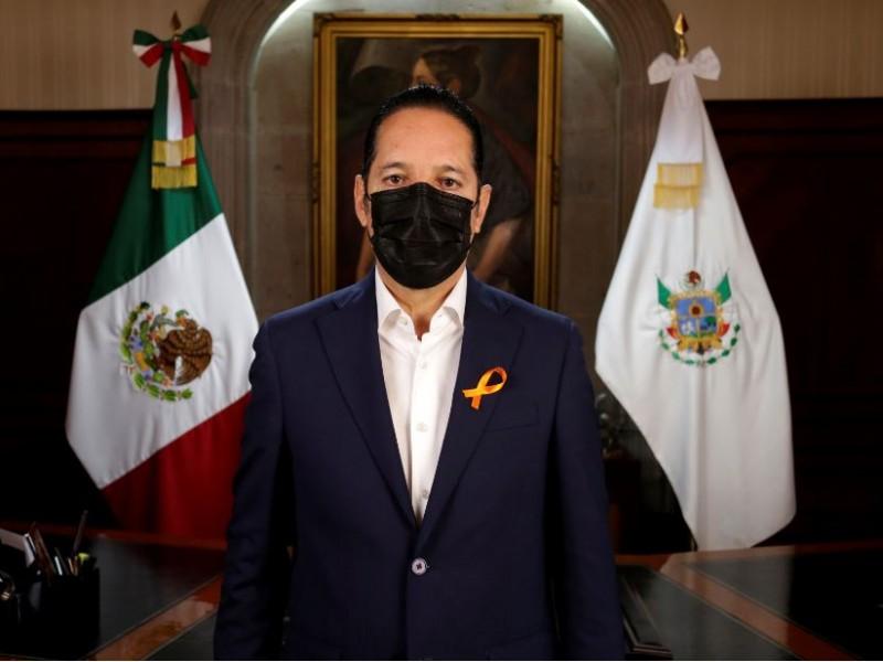 Por segunda ocasión, gobernador Francisco Domínguez da positivo a Covid-19
