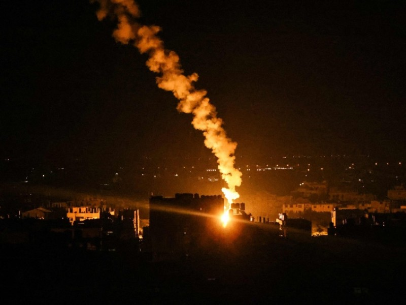Por segundo día consecutivo, Israel realiza ataques aéreos contra Gaza