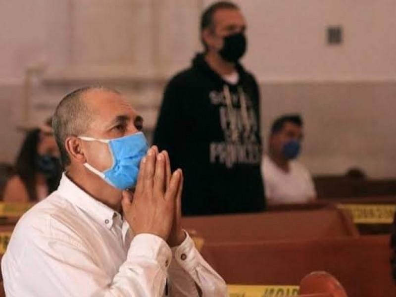 Por tercera ola de contagios, refuerzan protocolos sanitarios en iglesias