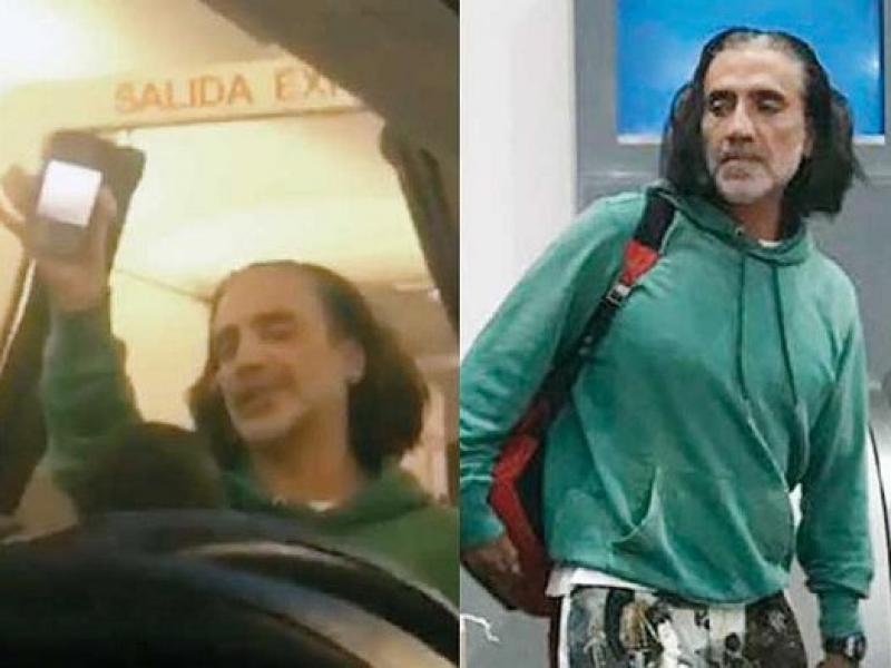 Potrillo hace escándalo en avión, luego se disculpa