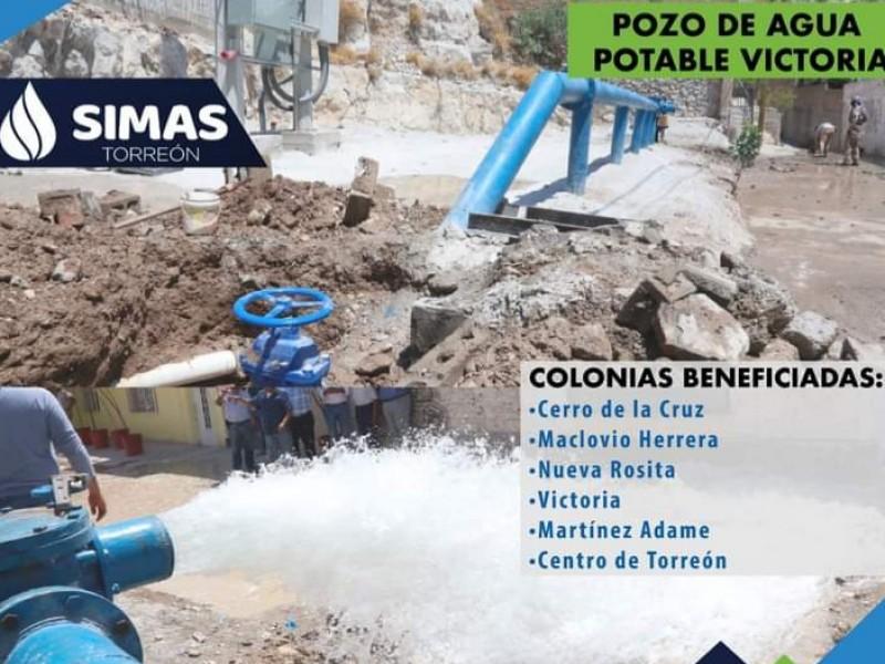 Pozo Victoria surtirá de agua a dos sectores de Torreón
