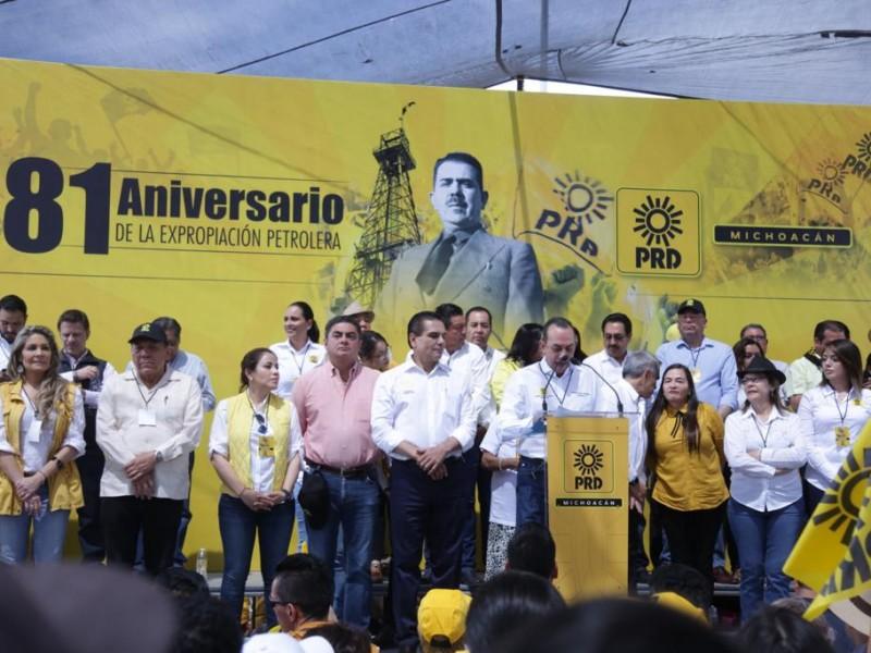 PRD llama a luchar contra la reelección