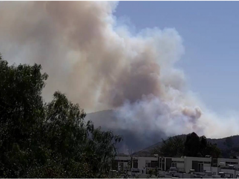 ¡Precaución! Reportan incendio en paraje Camino a los Ocotes
