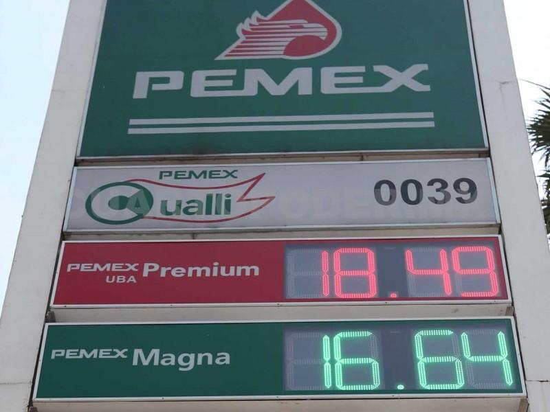 Precio de gasolina varió mínimamente en 2019