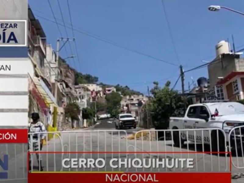Preparan derrumbe de casas afectadas en el Cerro del Chiquihuite