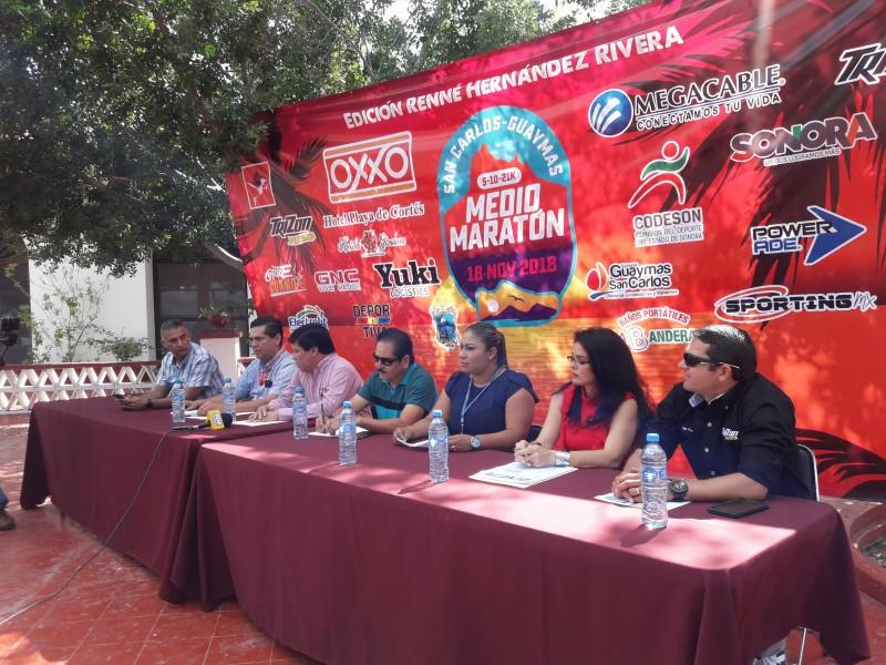Preparan Medio Maratón San Carlos Guaymas