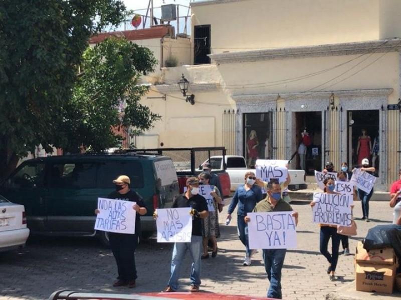 Preparan segunda manifestación contra la CFE en Álamos