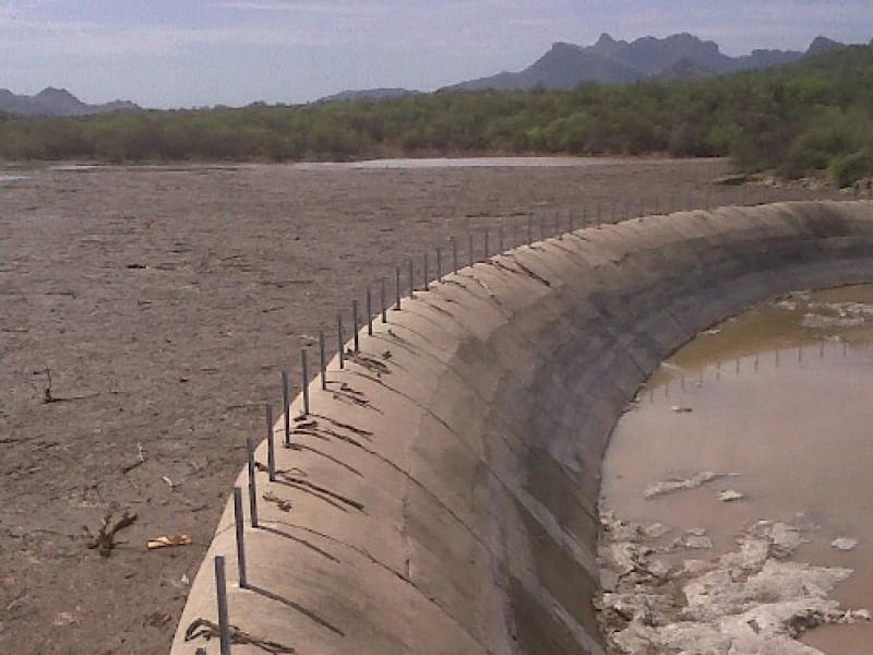 Presa en Punta de Agua casi vacía